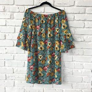 NWOT Xhilaration Floral Off the Shoulder Dress